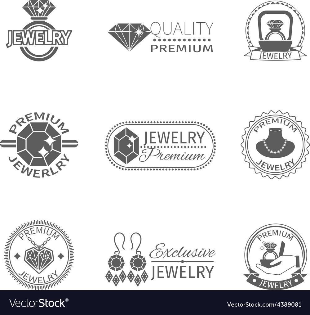Precious jewels label vector | Price: 1 Credit (USD $1)