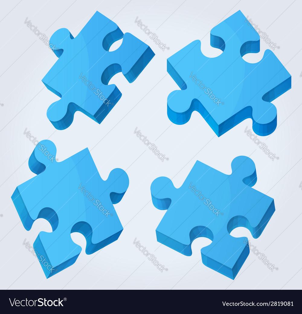 Puzzle pieces vector   Price: 1 Credit (USD $1)