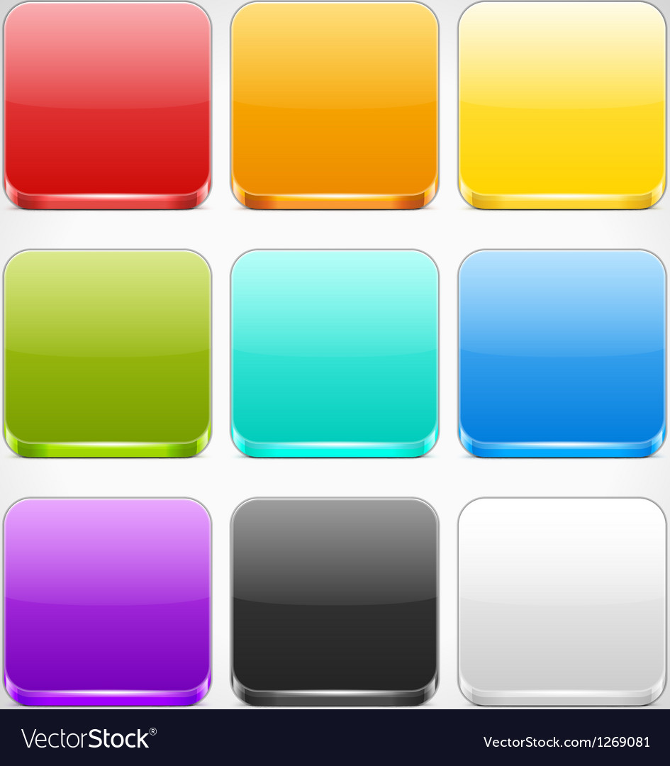Set of colorful app icons backgrounds vector | Price: 1 Credit (USD $1)