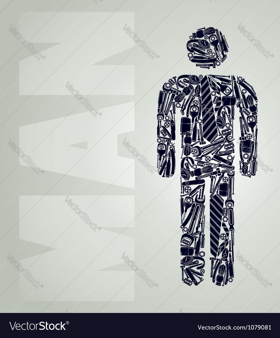 Simple silhouette of a male figure vector | Price: 1 Credit (USD $1)