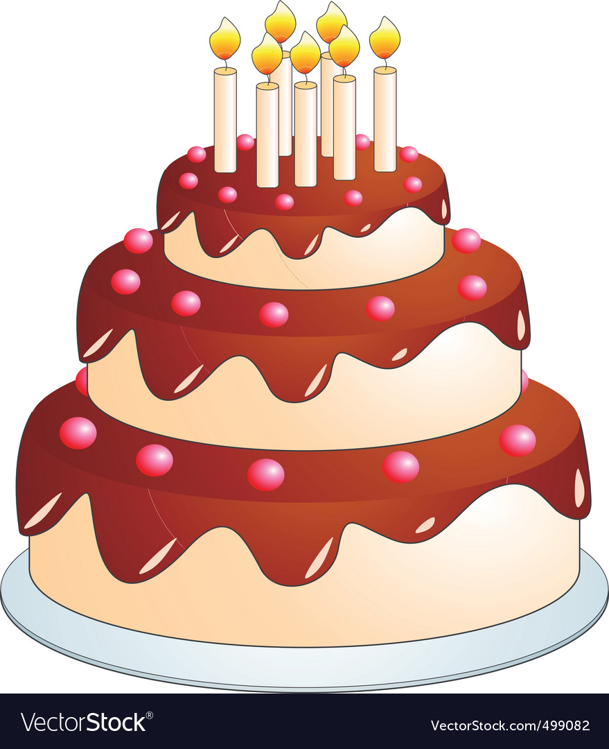 Cake cartoon vector | Price: 1 Credit (USD $1)