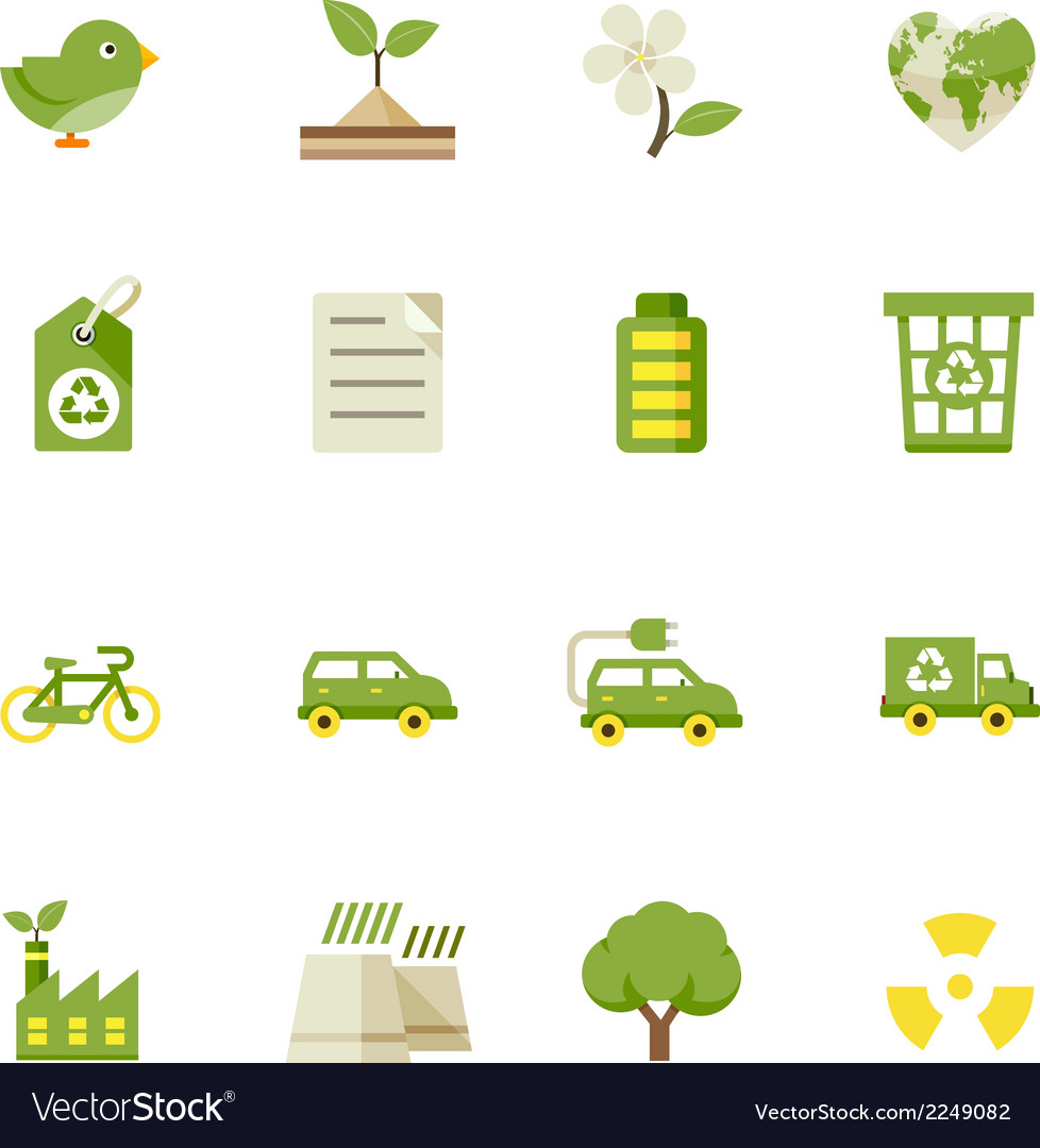 Ecology icons and environment icons vector | Price: 1 Credit (USD $1)