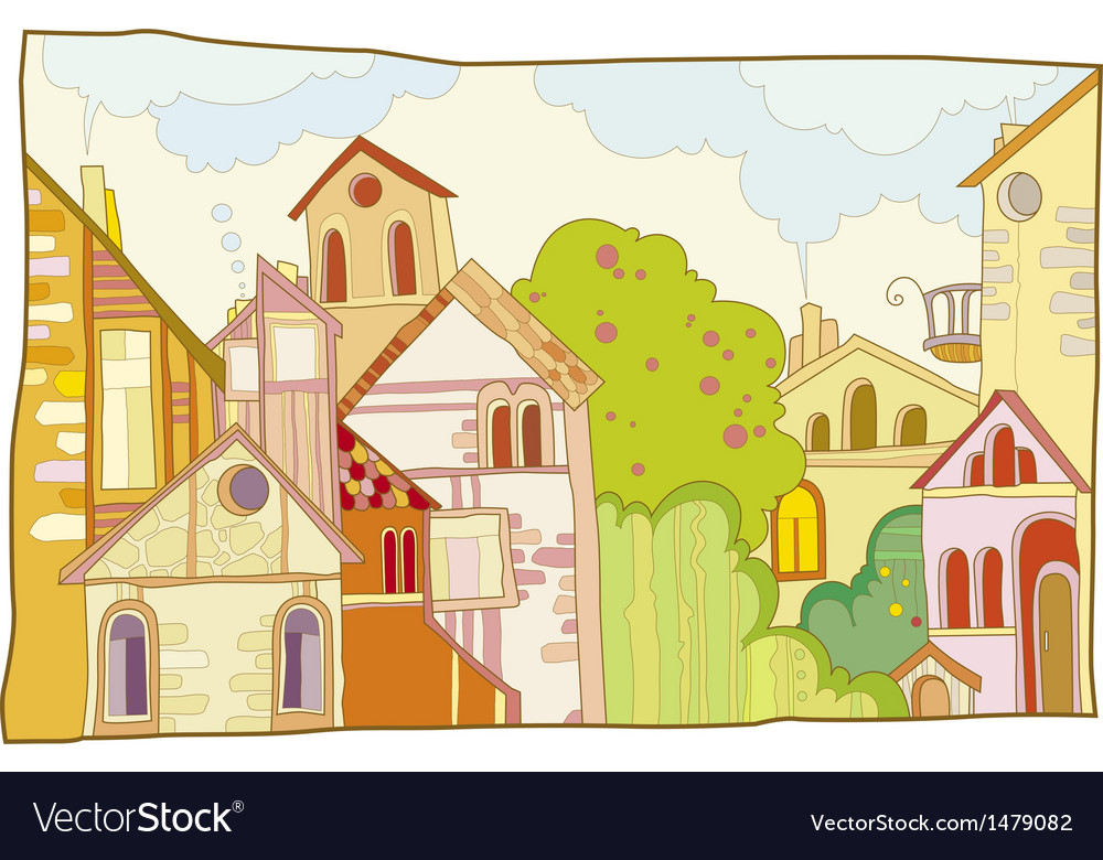Fantastic lodge street vector | Price: 3 Credit (USD $3)