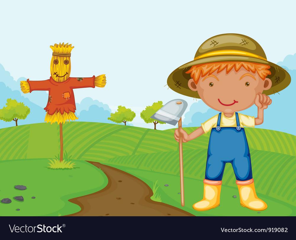 Farm boy vector   Price: 3 Credit (USD $3)