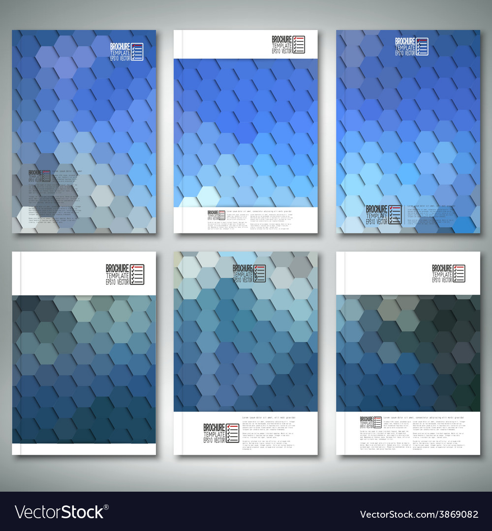 Geometric backgrounds abstract hexagonal patterns vector | Price: 1 Credit (USD $1)