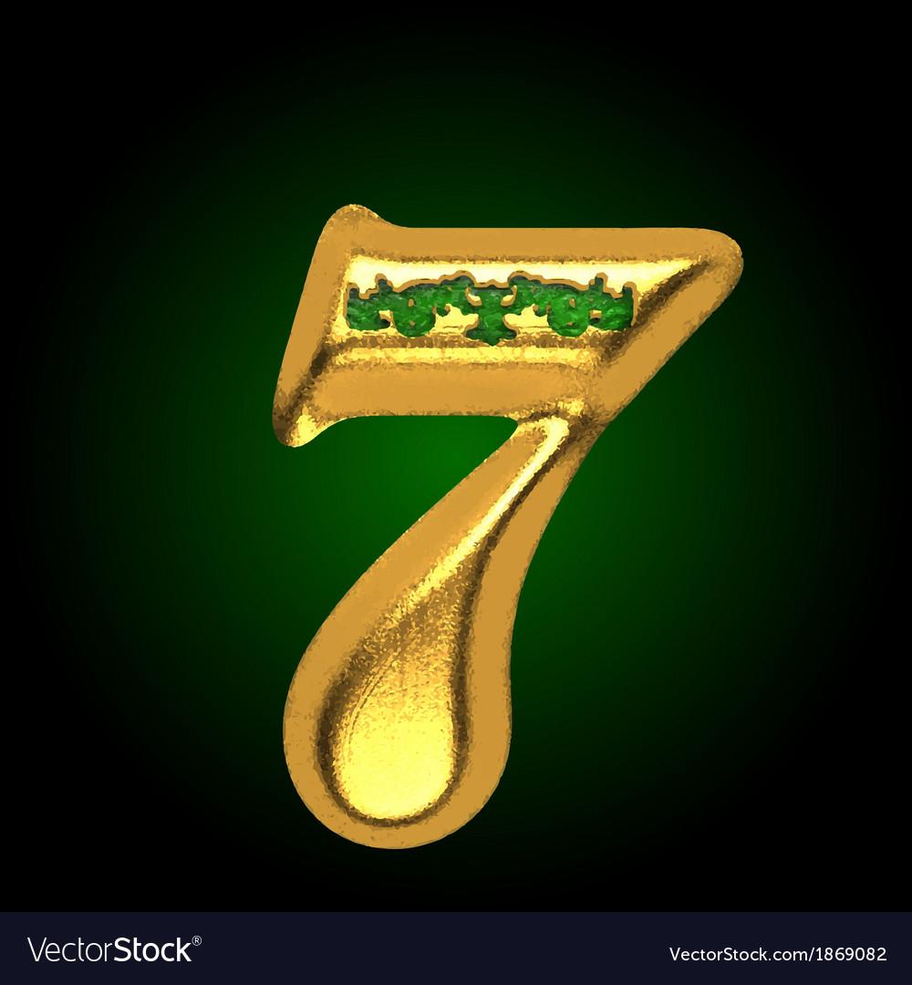 Golden letter 7 vector   Price: 1 Credit (USD $1)