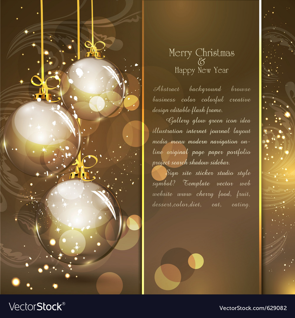 Holiday gold vector