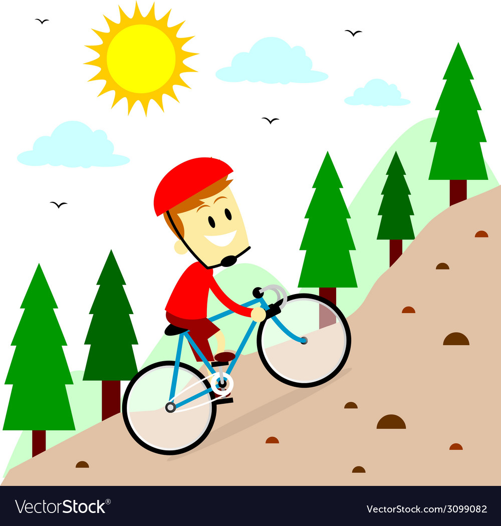 Mountain biking vector | Price: 1 Credit (USD $1)