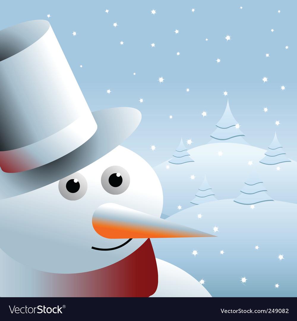Snowman background vector | Price: 1 Credit (USD $1)