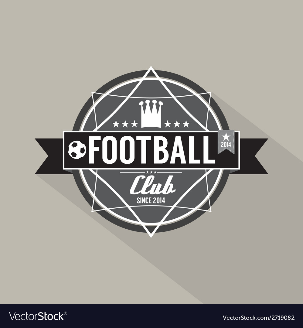 Soccer or football club label vector | Price: 1 Credit (USD $1)