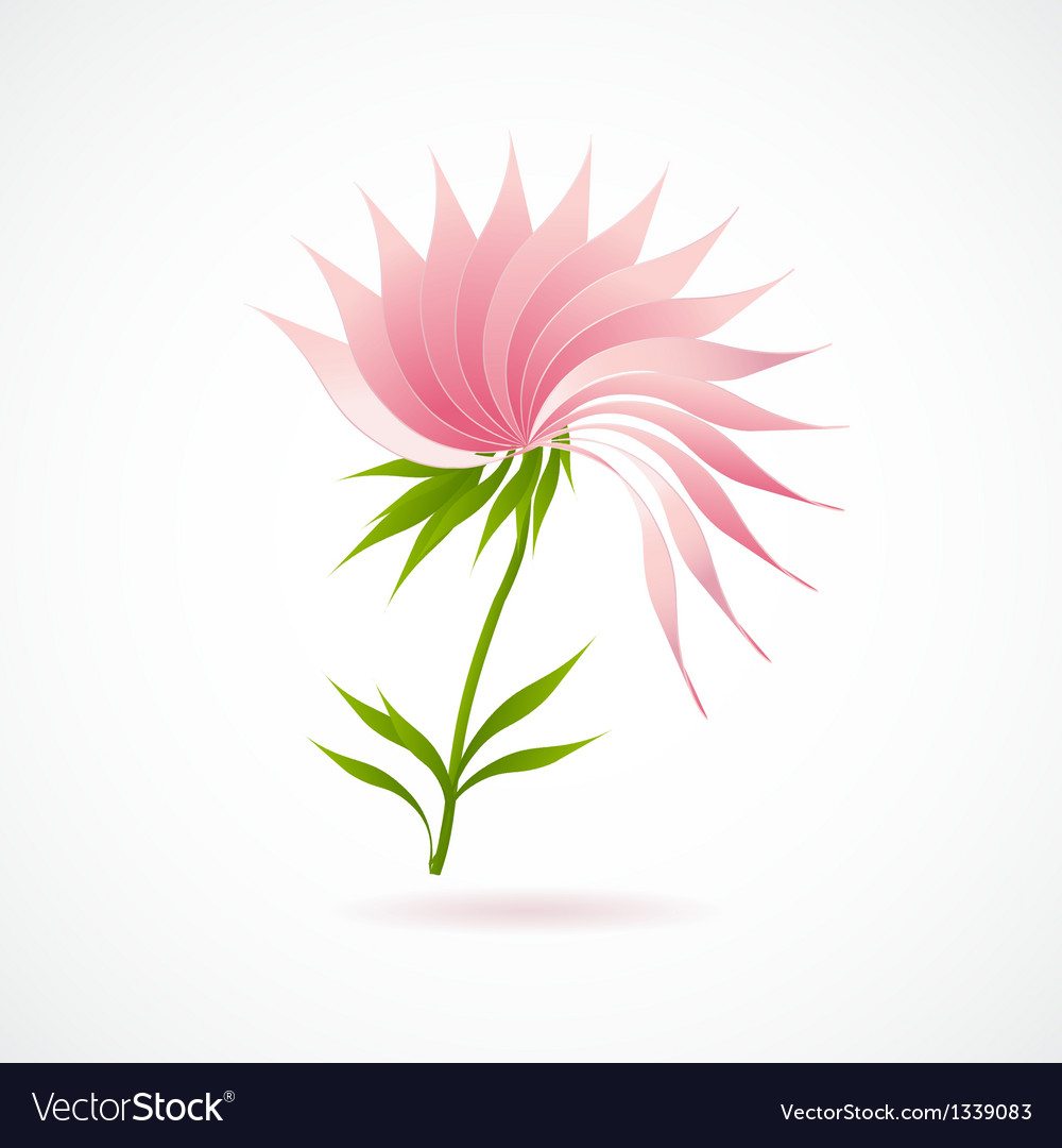 Abstract lotus flower icon isolated on white vector | Price: 1 Credit (USD $1)