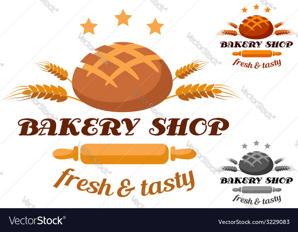 Bakery shop label or badge vector | Price: 1 Credit (USD $1)