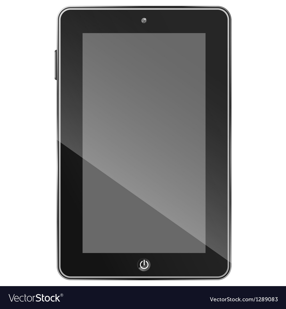 Black tablet pc eps10 vector | Price: 1 Credit (USD $1)