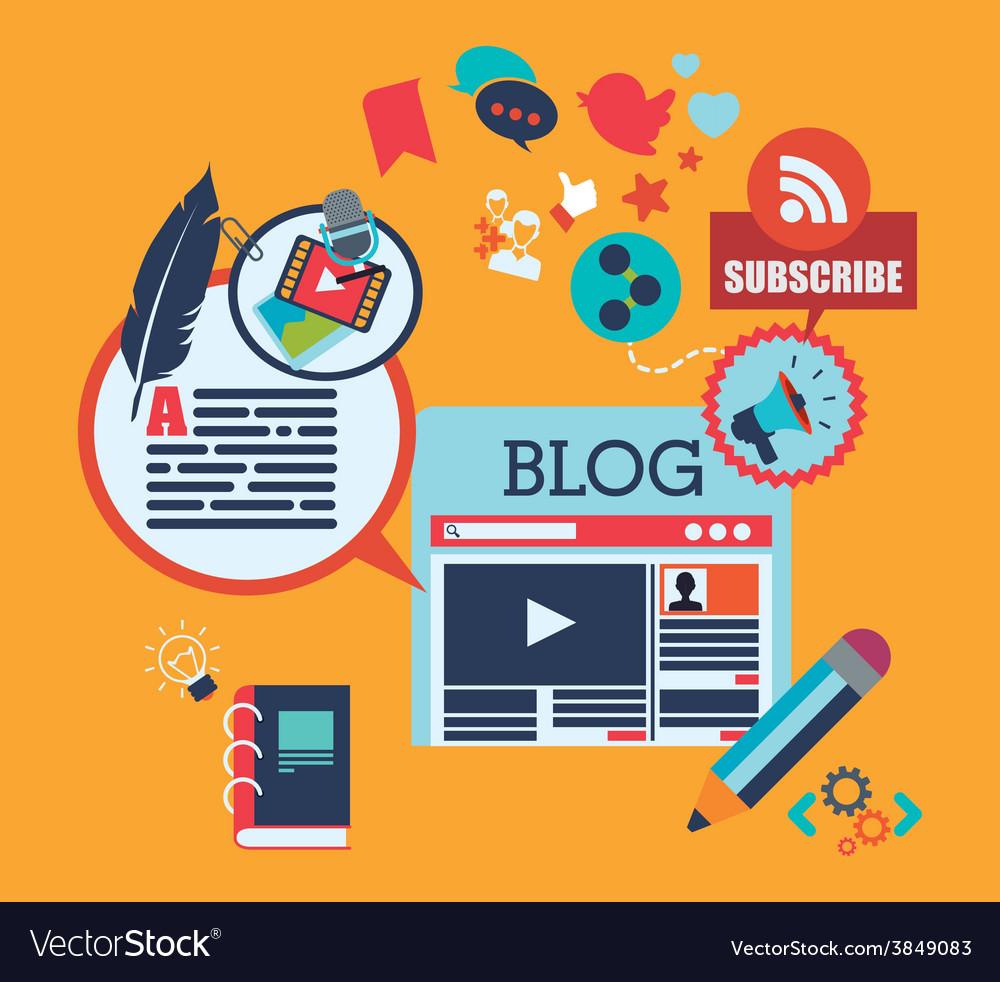 Blog concept vector | Price: 1 Credit (USD $1)