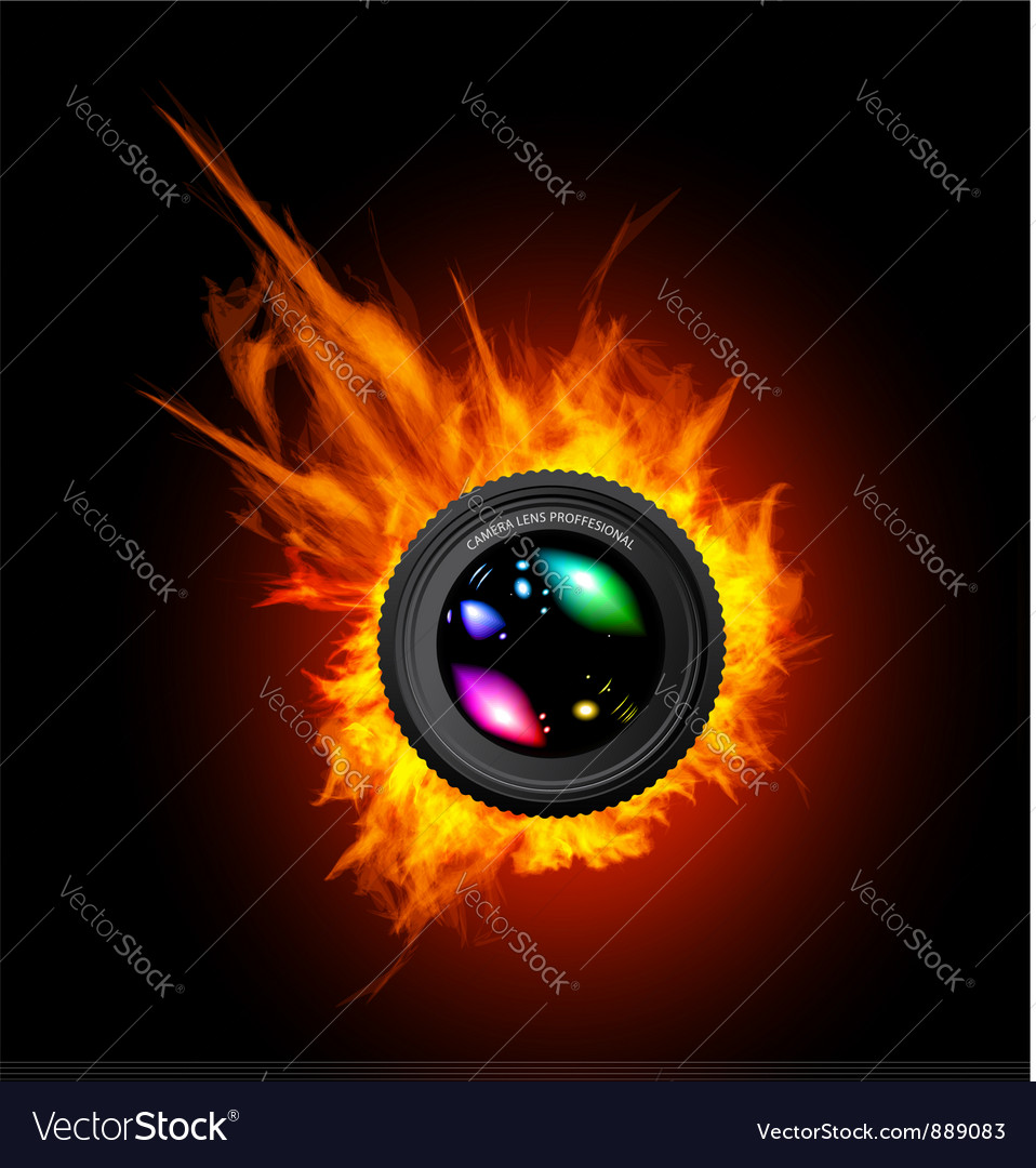 Burning the camera lens vector | Price: 3 Credit (USD $3)