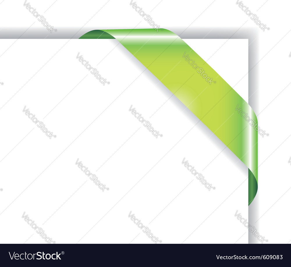 Card with green ribbon vector | Price: 1 Credit (USD $1)