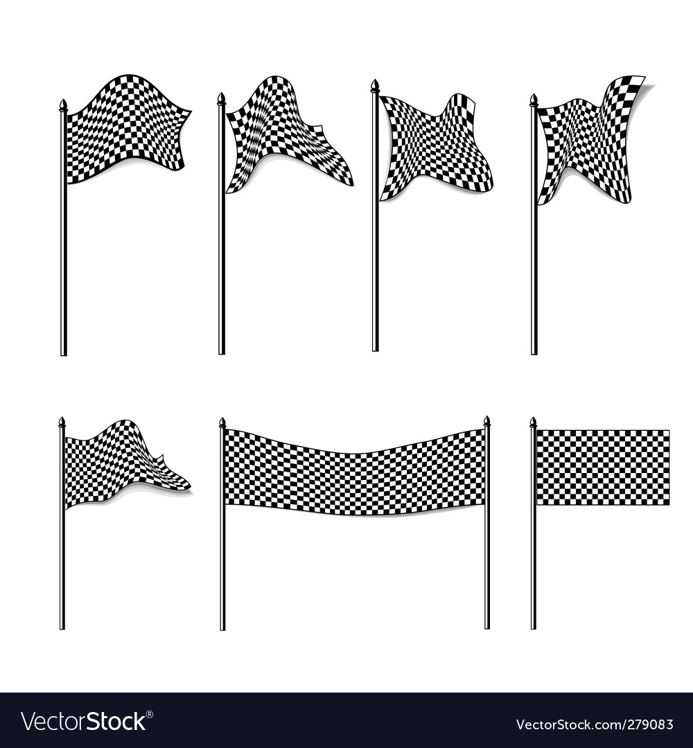 Checkered flags collection vector | Price: 1 Credit (USD $1)