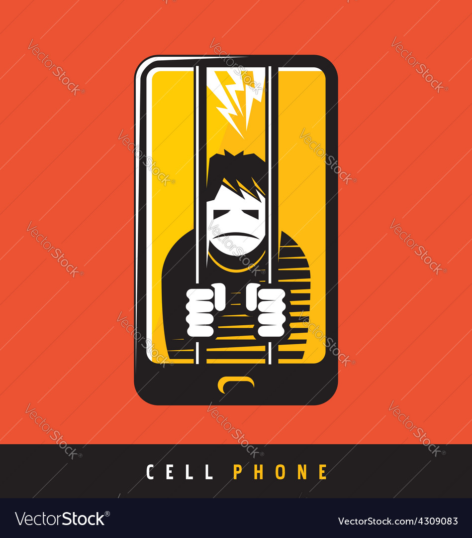 Creative poster design for cell phone vector | Price: 1 Credit (USD $1)