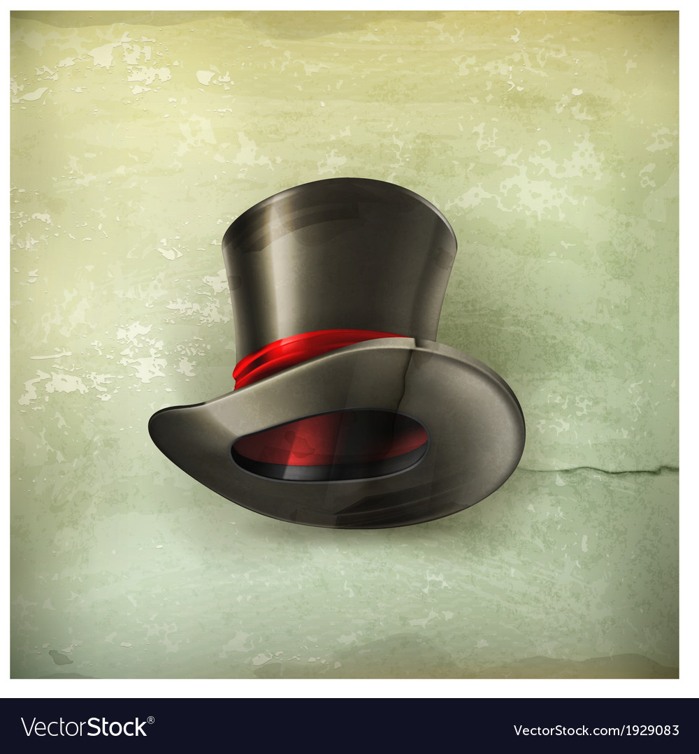 Cylinder hat old style vector | Price: 1 Credit (USD $1)