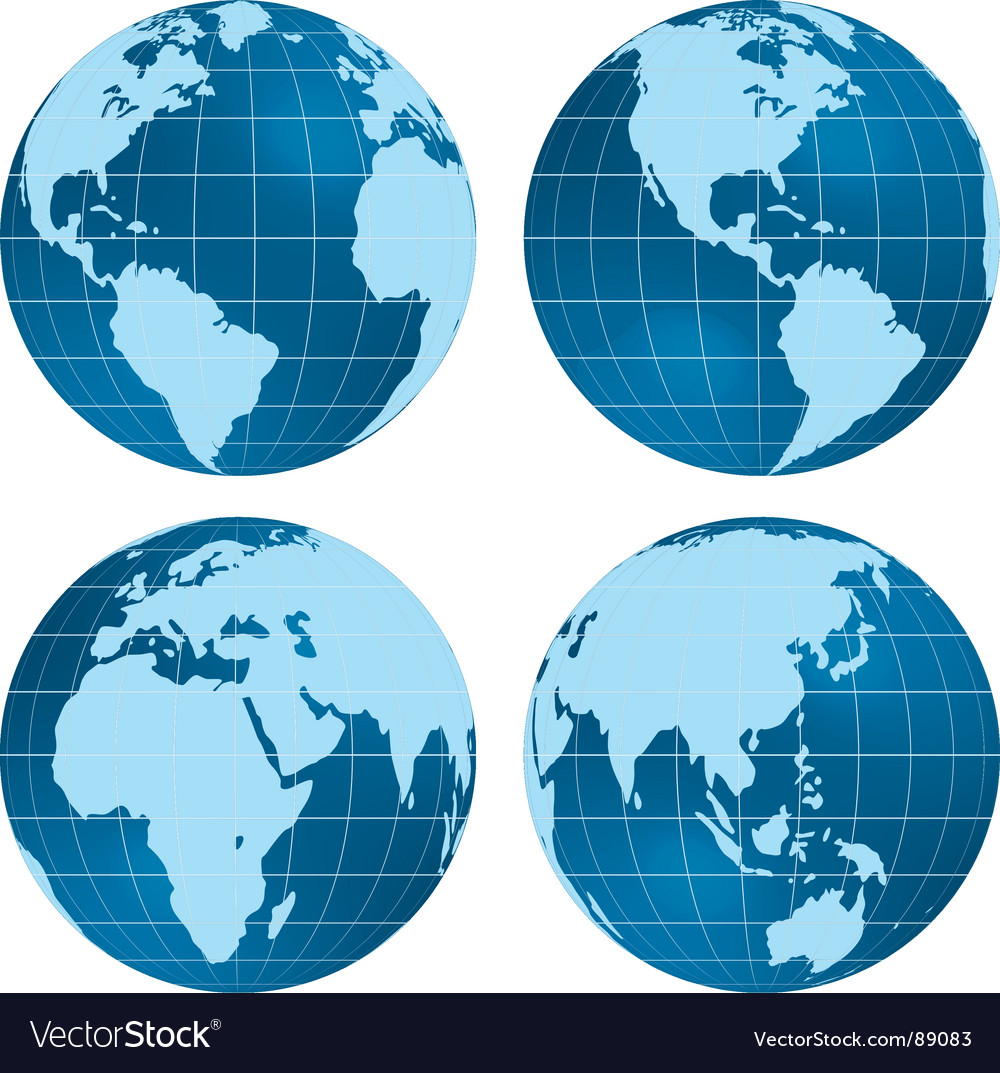 Globe views vector | Price: 1 Credit (USD $1)