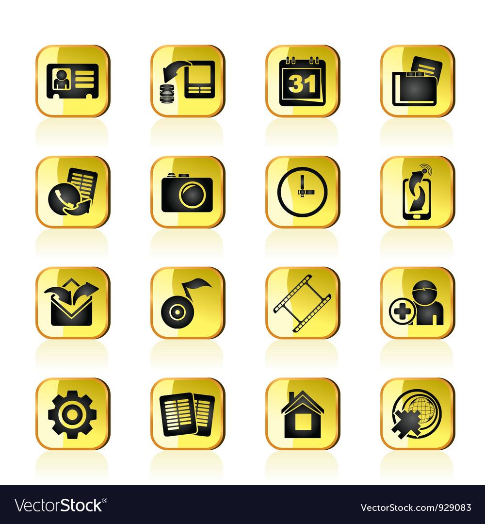 Mobile phone menu icons vector   Price: 1 Credit (USD $1)