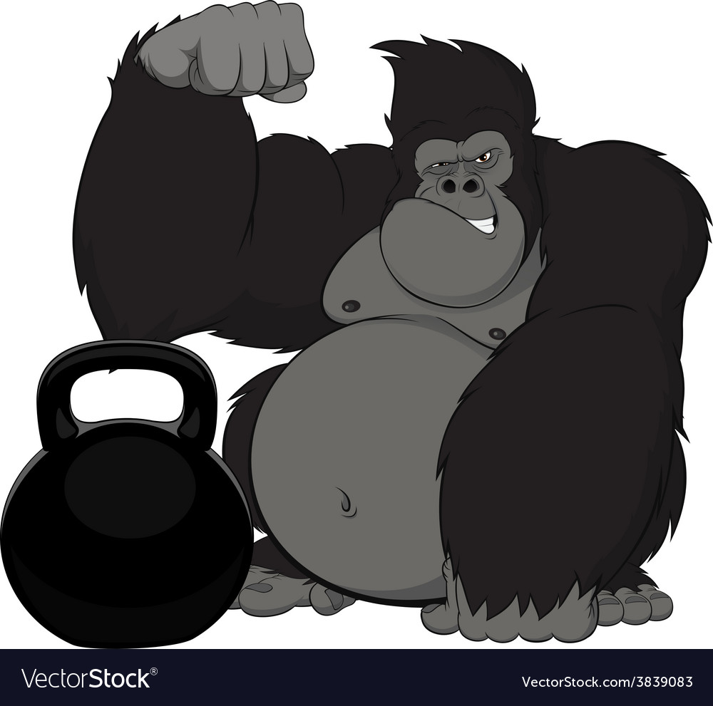 Monkey athlete vector | Price: 3 Credit (USD $3)