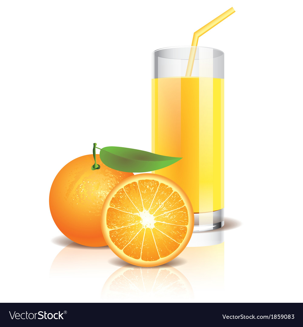 Object orange juice vector | Price: 1 Credit (USD $1)