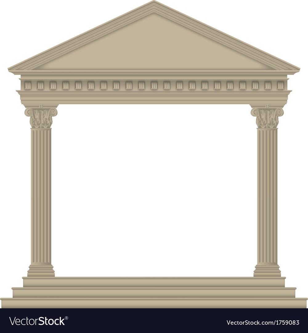 Romangreek temple vector | Price: 1 Credit (USD $1)