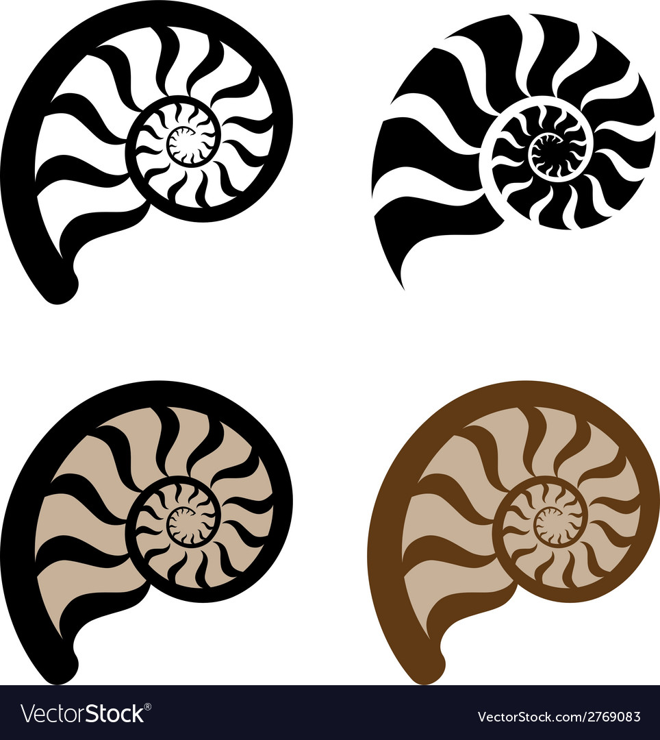 Shell silhouette vector | Price: 1 Credit (USD $1)