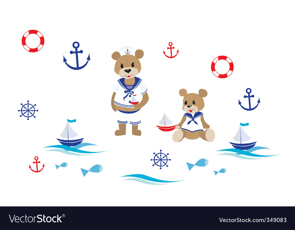 Teddy bears vector | Price: 1 Credit (USD $1)