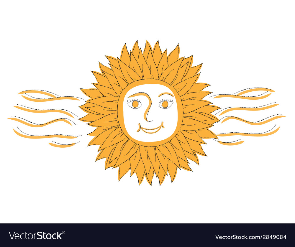 Abstract sun with flames vector | Price: 1 Credit (USD $1)