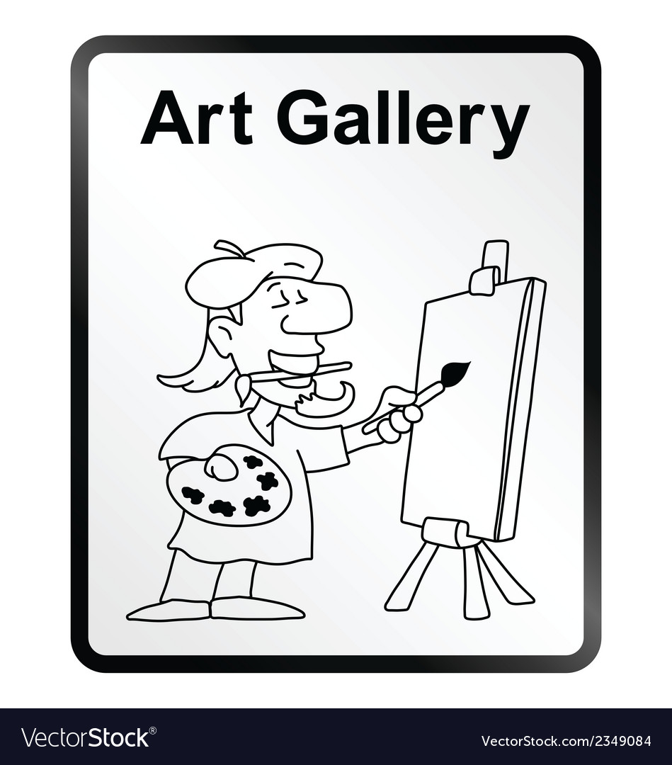 Art gallery information sign vector | Price: 1 Credit (USD $1)