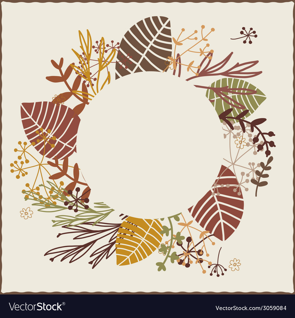 Autumn wreath vector | Price: 1 Credit (USD $1)