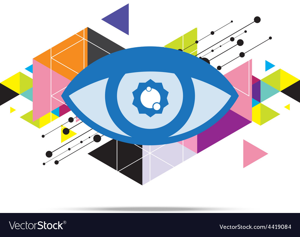 Eye abstract background design vector | Price: 1 Credit (USD $1)