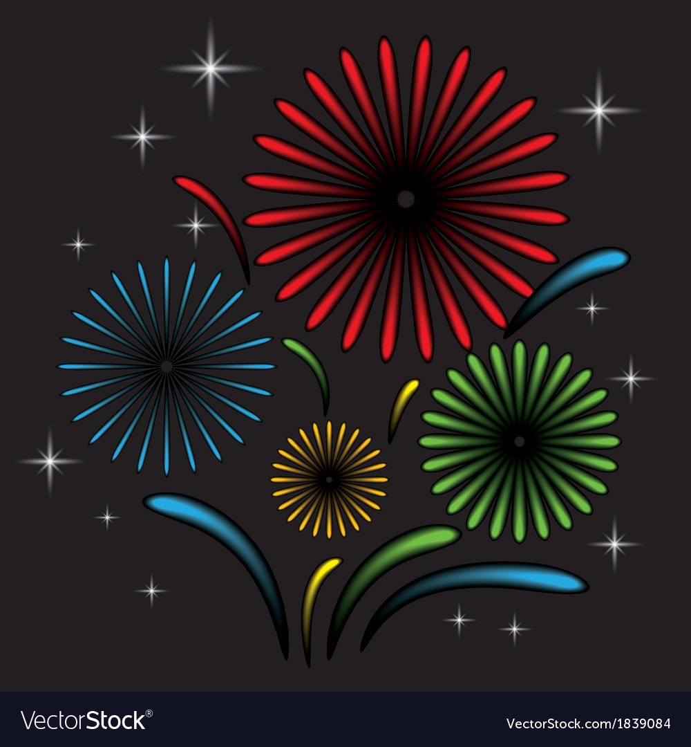 Fireworks with star vector | Price: 1 Credit (USD $1)