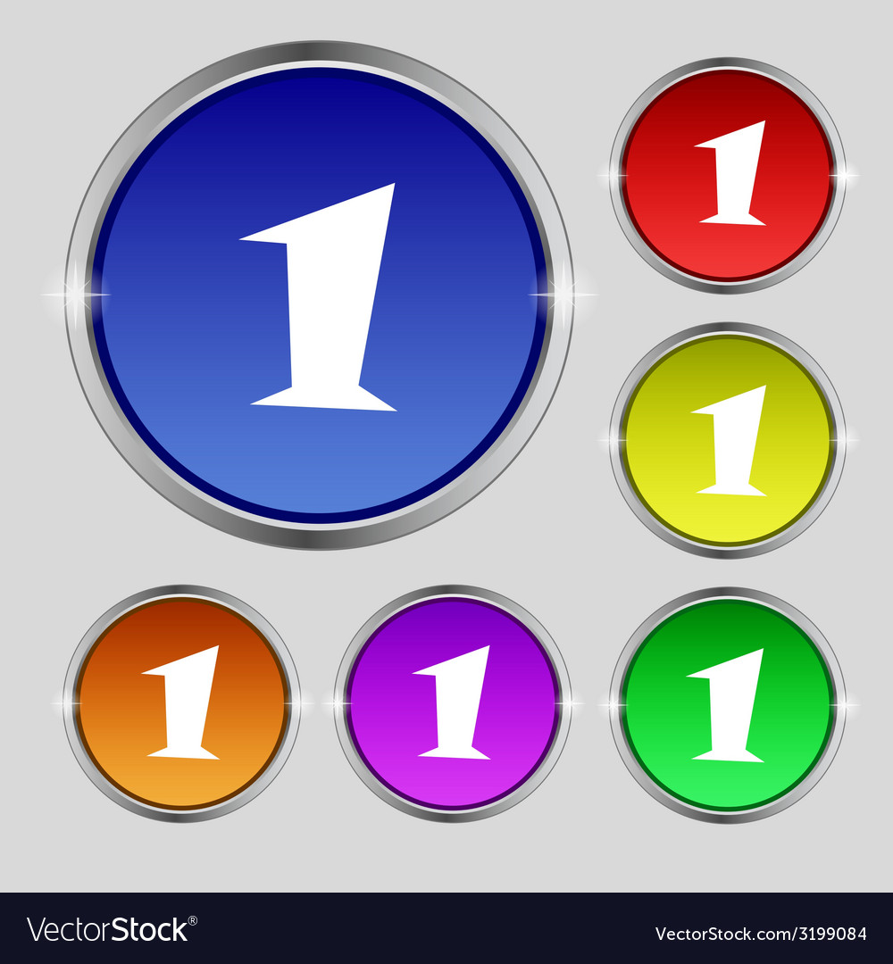 First place award sign winner symbol step one set vector   Price: 1 Credit (USD $1)