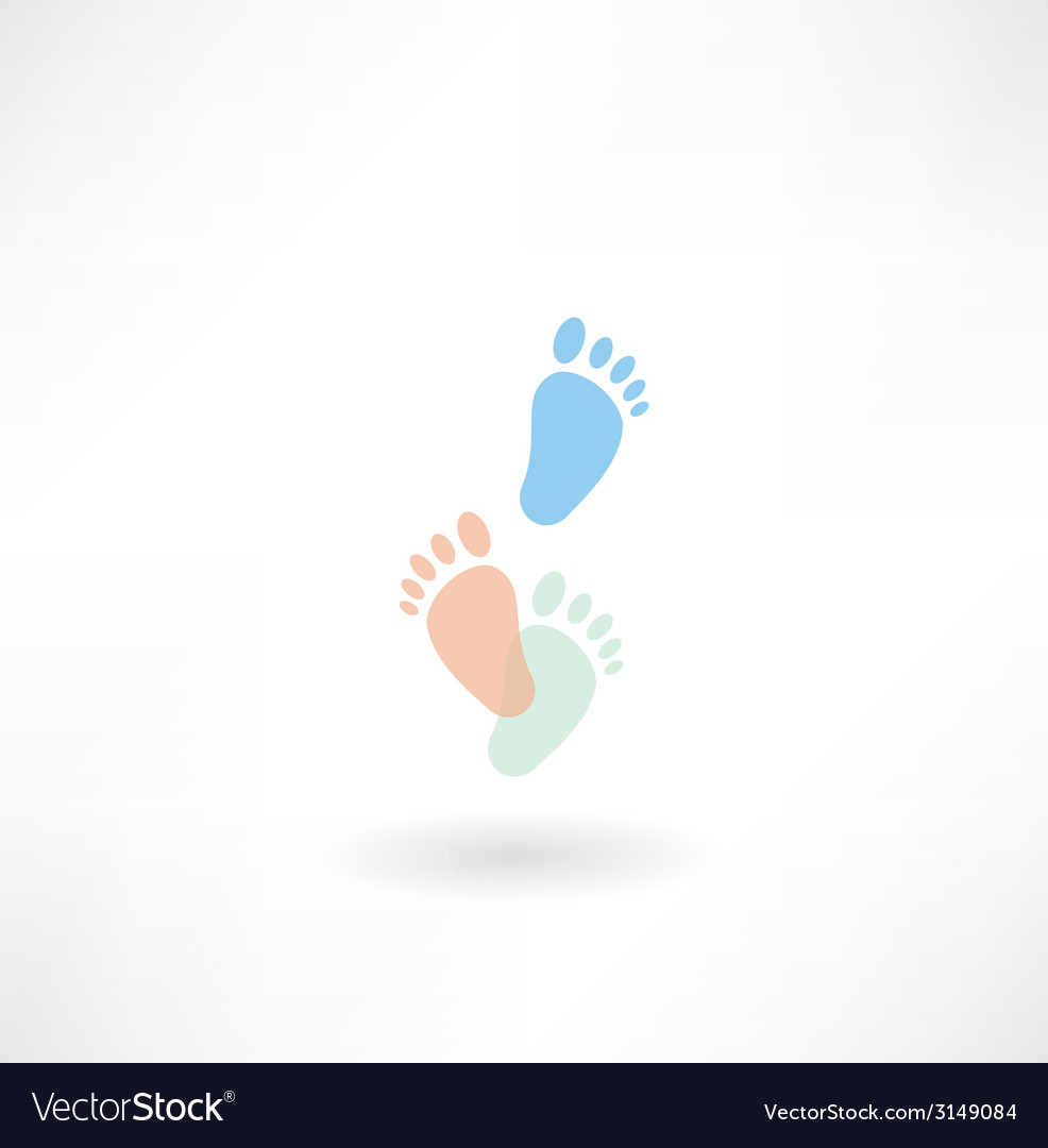 Human footprints icon vector | Price: 1 Credit (USD $1)