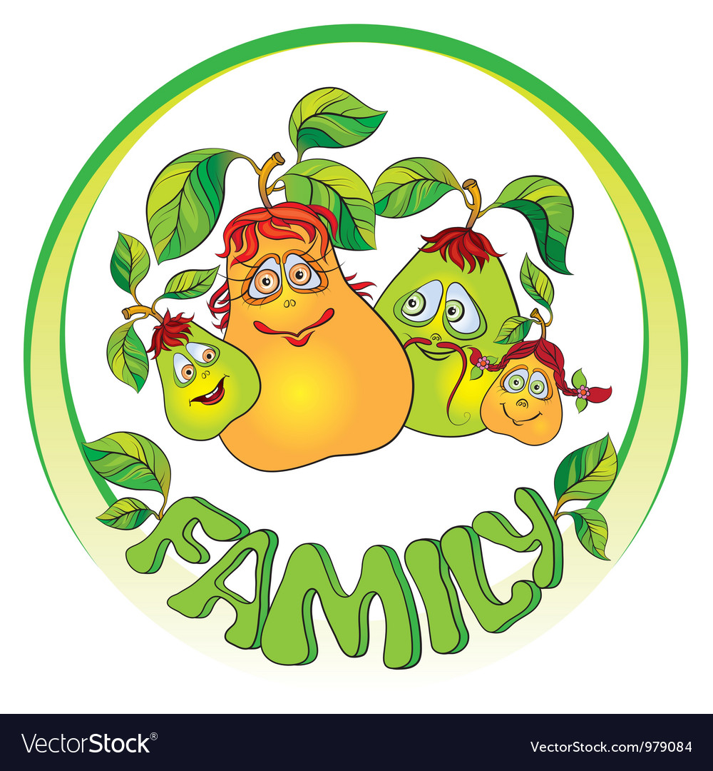 Pears family vector | Price: 1 Credit (USD $1)