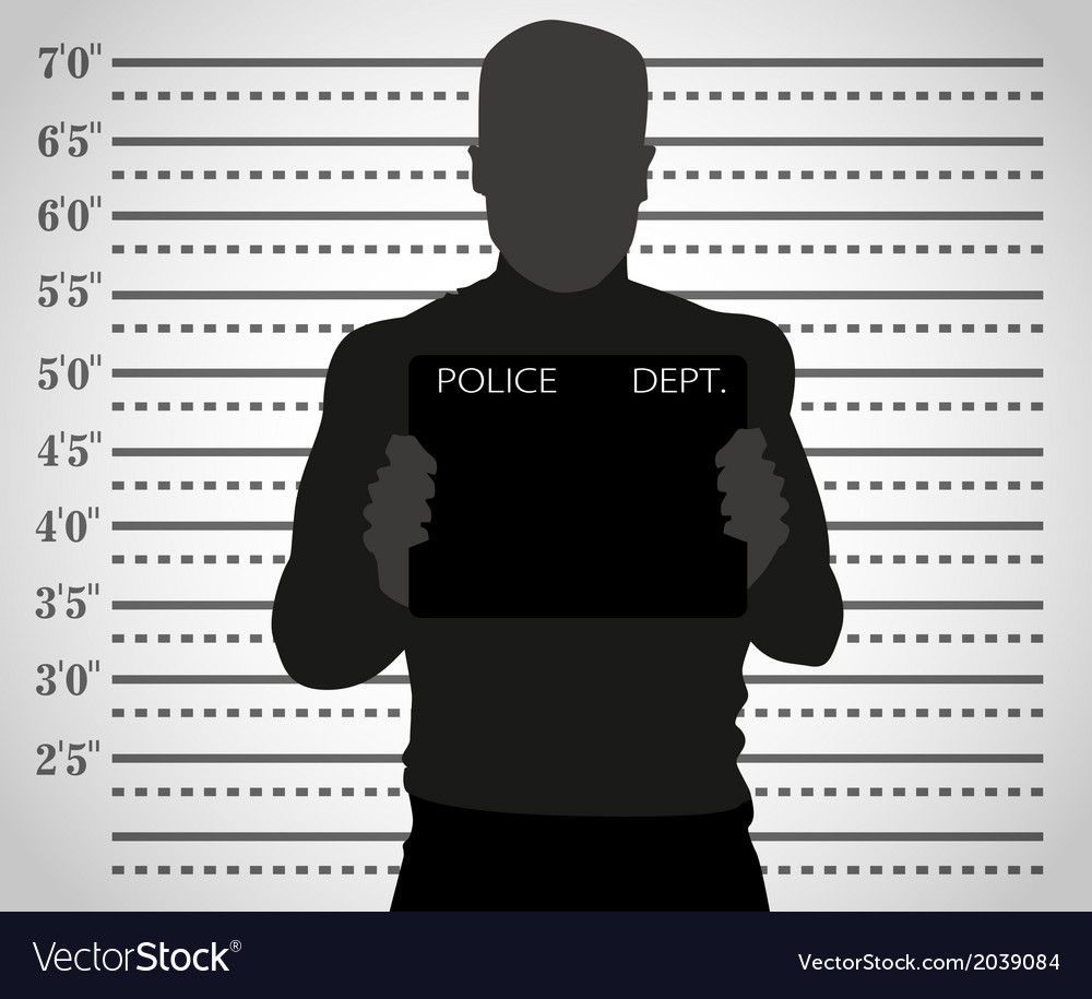 Police mug shot vector | Price: 1 Credit (USD $1)