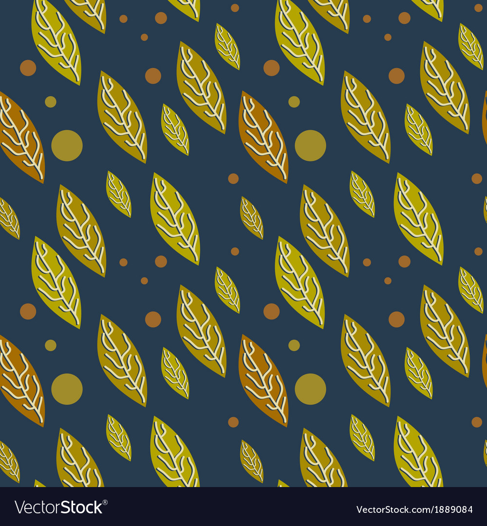 Seamless autumn falling leaves pattern vector | Price: 1 Credit (USD $1)