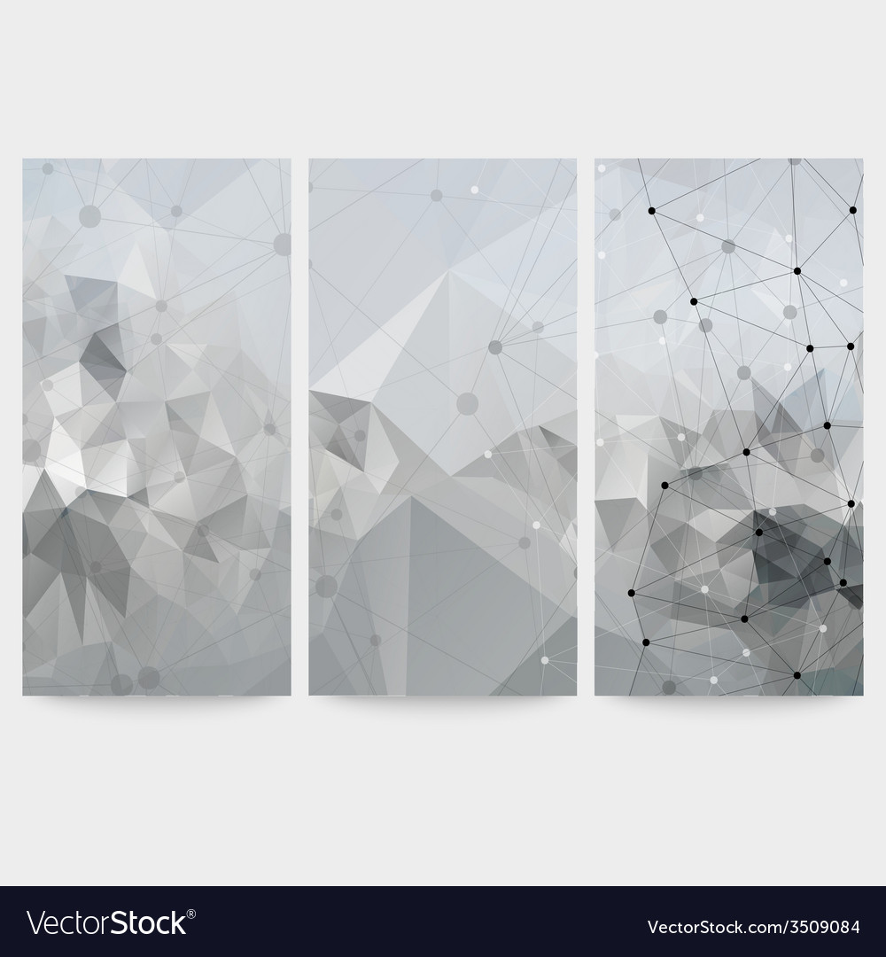 Set of abstract backgrounds molecule structure vector | Price: 1 Credit (USD $1)