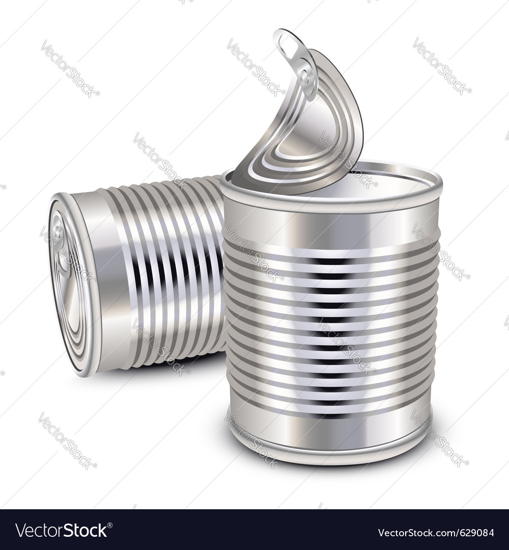Tin cans vector | Price: 3 Credit (USD $3)