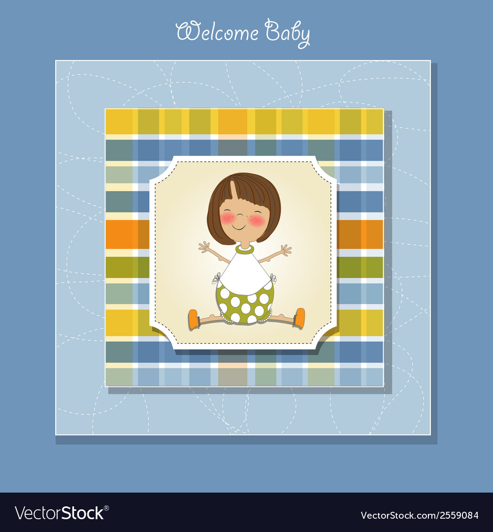 Welcome little girl vector | Price: 1 Credit (USD $1)