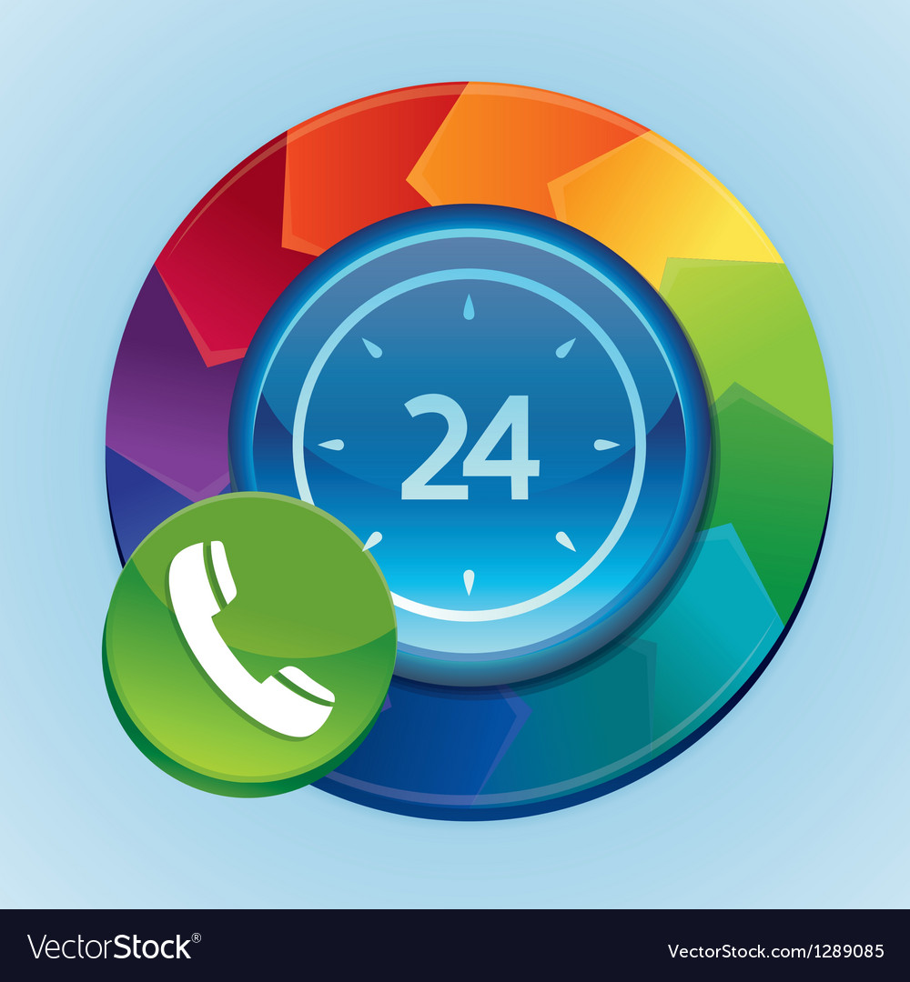 24 hour support icon vector | Price: 1 Credit (USD $1)