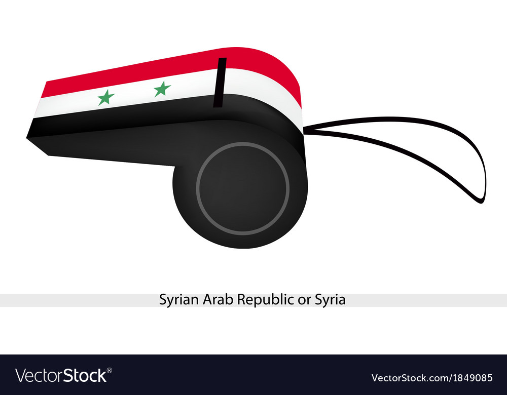 A whistle of the syrian arab republic vector | Price: 1 Credit (USD $1)