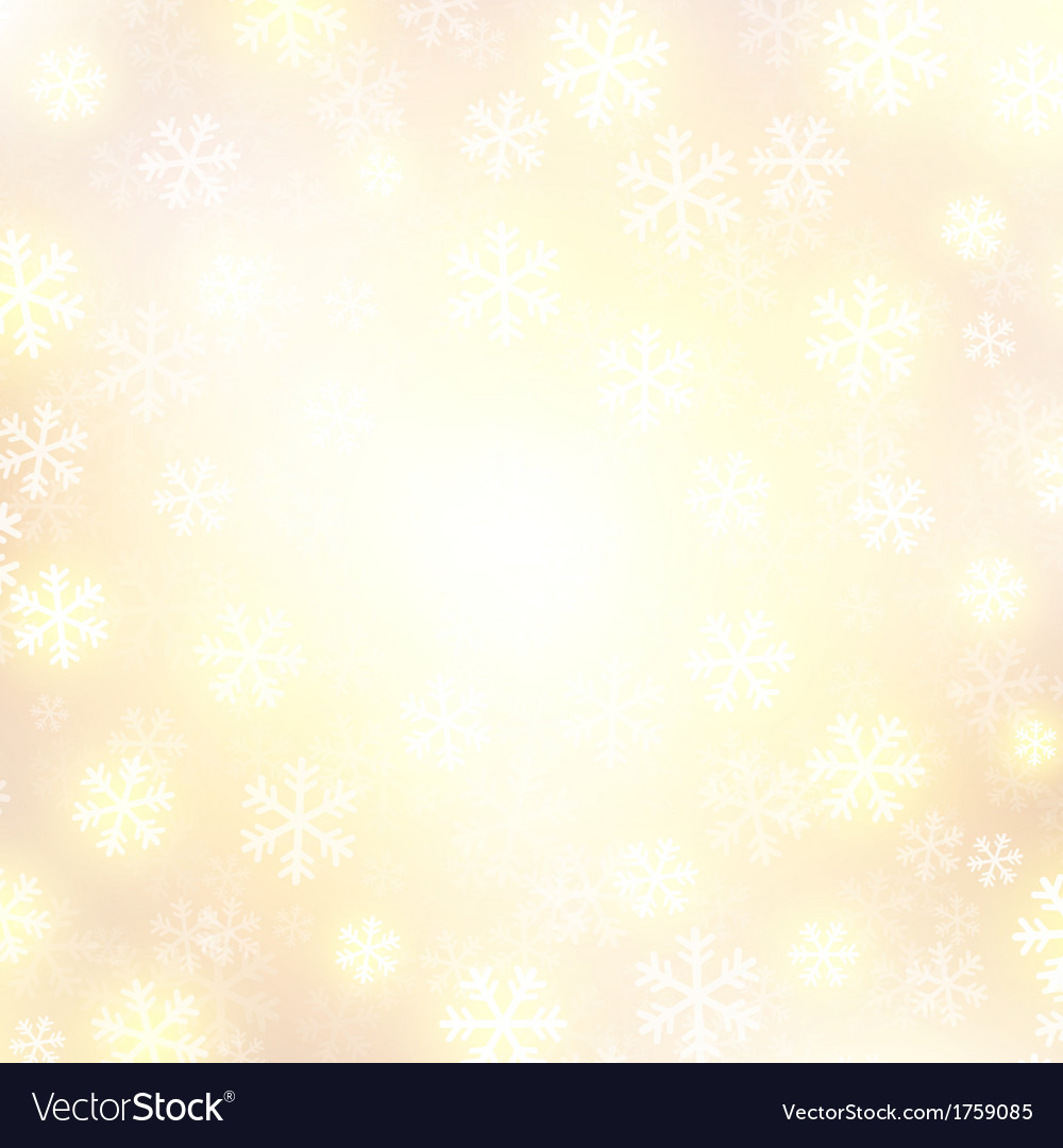 Background with golden falling snow vector | Price: 1 Credit (USD $1)