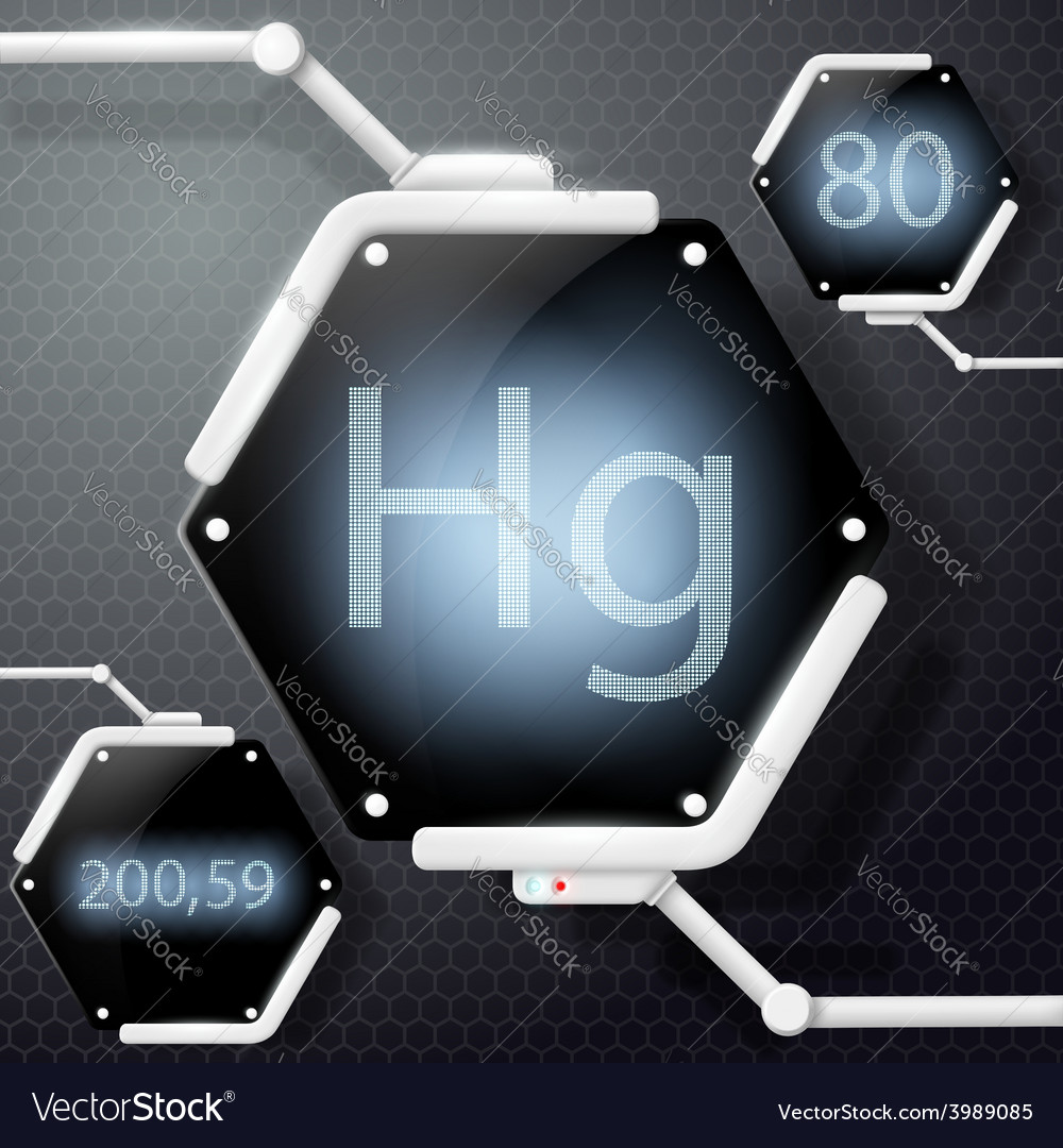 Chemical element mercury vector | Price: 1 Credit (USD $1)