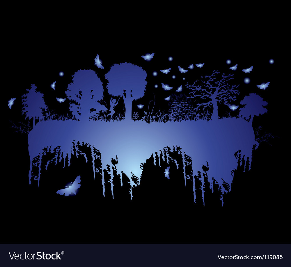 Floating forest vector | Price: 1 Credit (USD $1)