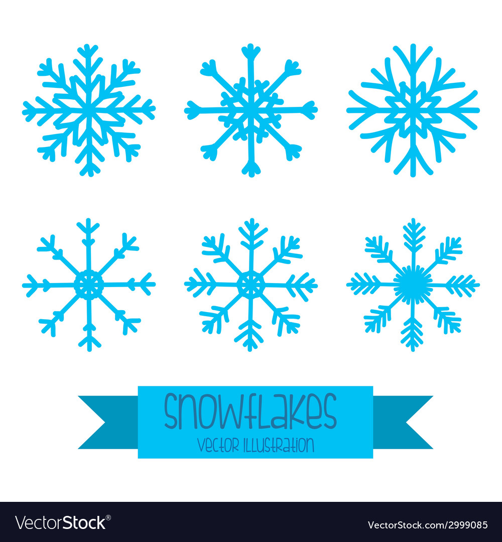 Snowflake design vector | Price: 1 Credit (USD $1)