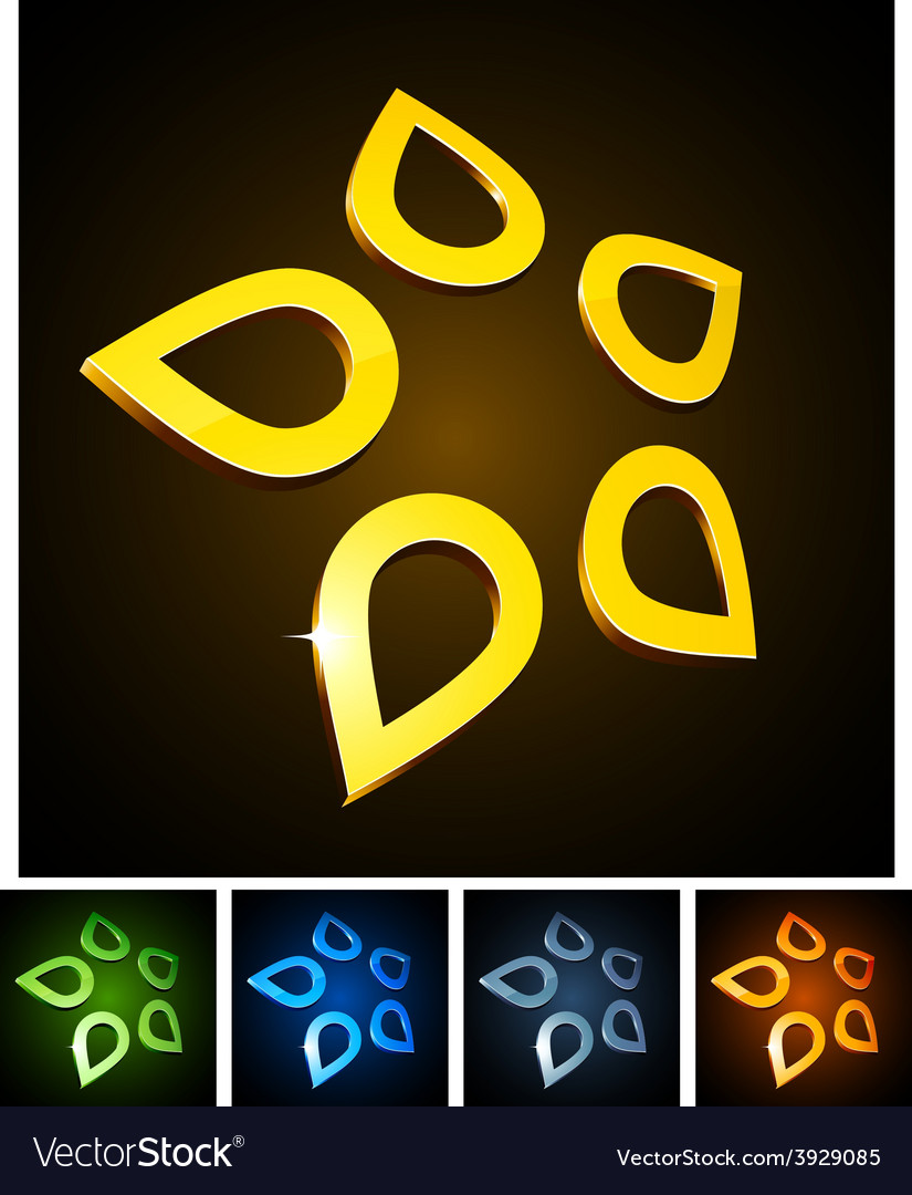 Star vibrant emblems vector | Price: 1 Credit (USD $1)